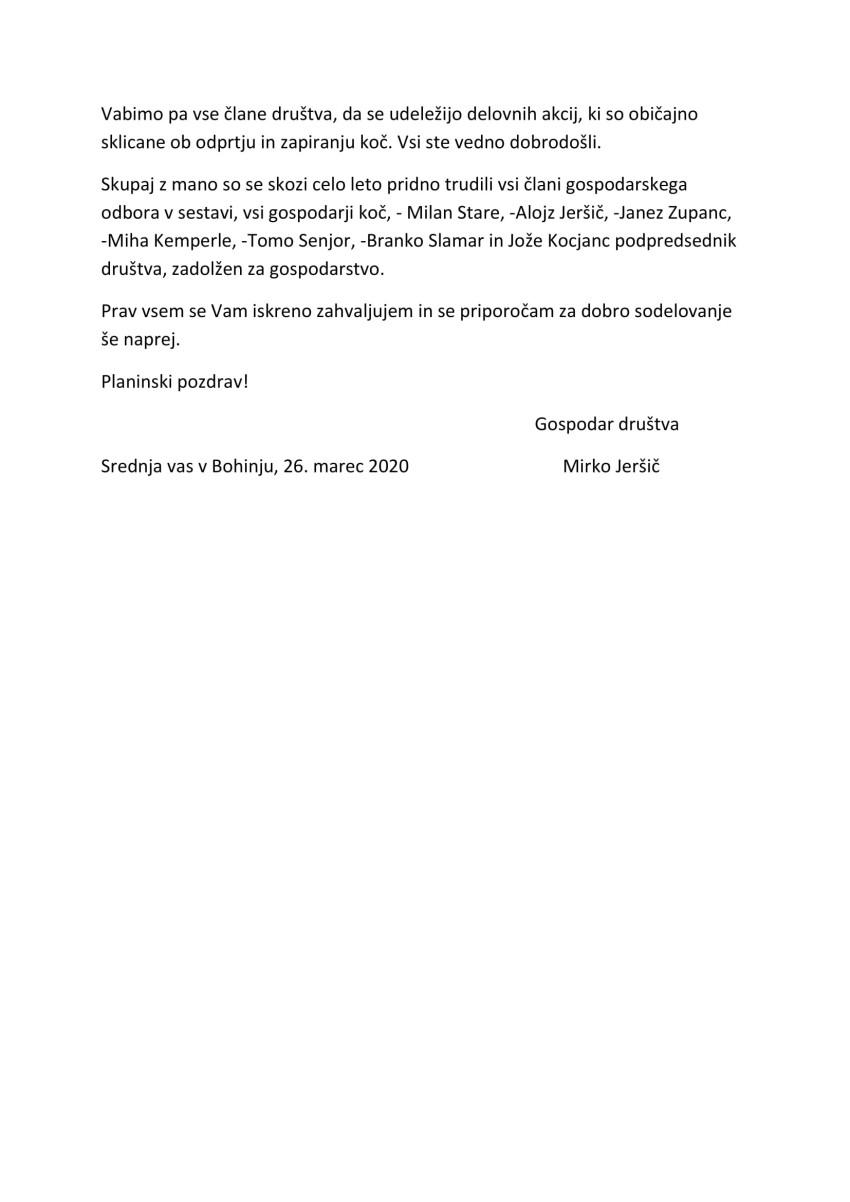 Poročilo gospodarja PD za leto 2019-2